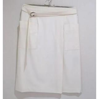 ロペ(ROPE)のロペ 夏用膝丈スカート 大きめサイズ(ひざ丈スカート)