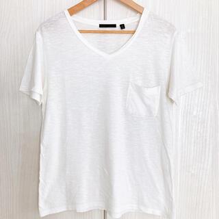 ハレ(HARE)のHARE ハレ Tシャツ カットソー 半袖 Vネック メンズ 白 S(Tシャツ/カットソー(半袖/袖なし))