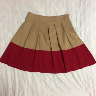 インデックス(INDEX)のINDEX ツートンカラー スカート(ひざ丈スカート)
