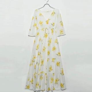 gelato pique - ジェラートピケ ビッグフラワーロングドレス ワンピース ドレス