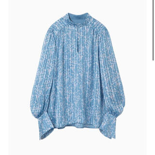 mame - 新品 mame Flower Hand-Printed Crepe Blouse