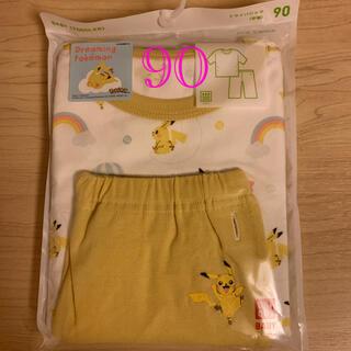 ユニクロ(UNIQLO)のユニクロ パジャマ(半袖) ポケモン ピカチュウ 90センチ  イエロー 新品(パジャマ)