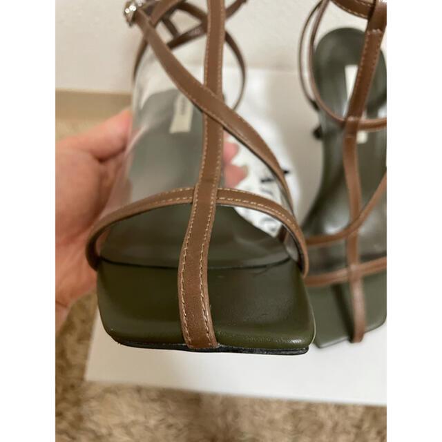 Ameri VINTAGE(アメリヴィンテージ)のAMERI アメリヴィンテージ サンダル ブラウン Sサイズ レディースの靴/シューズ(サンダル)の商品写真