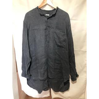 コモリ(COMOLI)のcomoli 20ss リネンwクロスプルオーバーシャツ コモリ 3(シャツ)