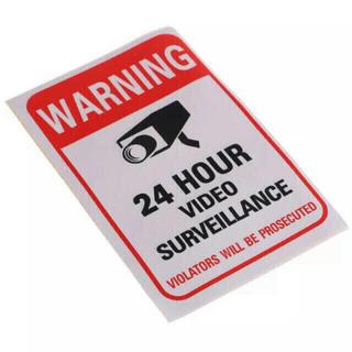 英語版 監視カメラ 防犯カメラステッカー 防水日焼防止タイプ 約15x10cm(防犯カメラ)