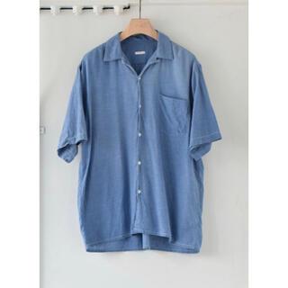 コモリ(COMOLI)のCOMOLI 21SS ベタシャンオープンカラーシャツ SAX 1(シャツ)
