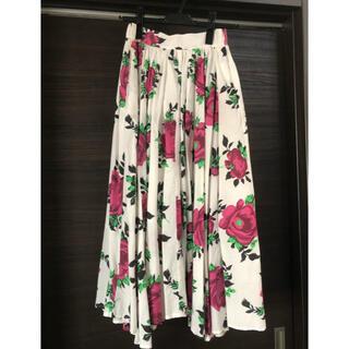 アメリヴィンテージ(Ameri VINTAGE)のLUCY CIRCULAR SKIRT 花柄スカート(ひざ丈スカート)