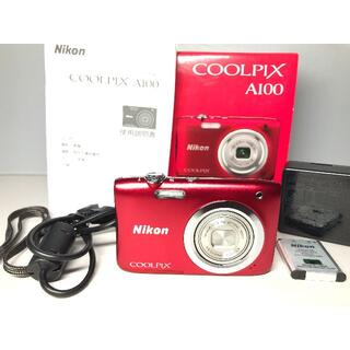 Nikon - 極上品 ニコン COOLPIX A100 レッド