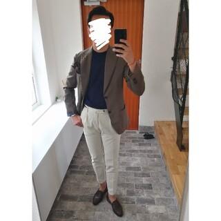 BARNEYS NEW YORK - 未使用LARDINIラルディーニ ウールシルクジャケット46 オリーブ