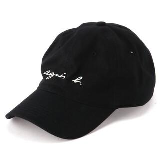 アニエスベー(agnes b.)のagnes.b アニエスベー キャップ  帽子 ブラック(キャップ)
