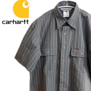カーハート(carhartt)のcarhartt カーハート 半袖シャツ ストライプ グレー ワーク(シャツ)
