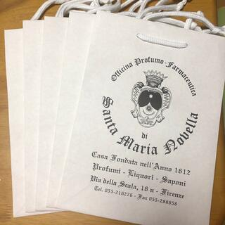 サンタマリアノヴェッラ(Santa Maria Novella)のサンタマリアノヴェッラ  紙袋5枚セット(ショップ袋)
