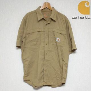 カーハート(carhartt)のカーハート 半袖 ワークシャツ メンズ Lサイズ ベージュ(シャツ)