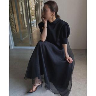 アメリヴィンテージ(Ameri VINTAGE)のFLUFFY MACARON DRESS Ameri vintage (ロングワンピース/マキシワンピース)