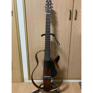 ヤマハ(ヤマハ)のサイレントギター SLG200S 本体・ケース・付属品・別売りグッズ付き(アコースティックギター)