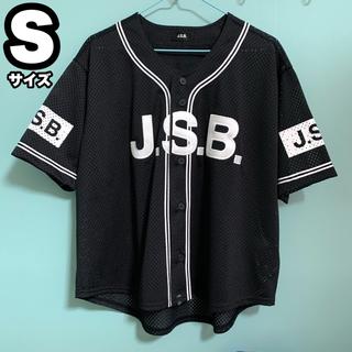 三代目 J Soul Brothers - J.S.B ベースボールシャツ 黒 Sサイズ 三代目JSB ブラック 新品