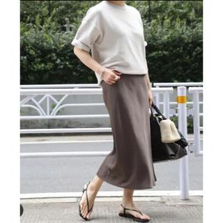 DEUXIEME CLASSE - ドゥーズィエムクラス ビンテージサテンスカート ブラウン