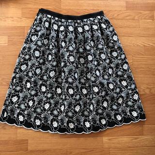 SONIA RYKIEL - ソニアリキエル 花刺繍スカート