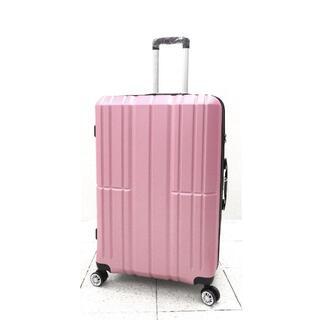中型軽量スーツケース8輪キャリーバッグ TSAロック付き Mサイズ ピンク(旅行用品)