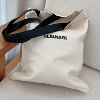 Jil Sander - 【新品】JILSANDER フラットショッパー キャンバストートバッグ