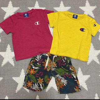 シマムラ(しまむら)のチャンピオン Tシャツ ハーフパンツ 上下 3点セット(Tシャツ/カットソー)