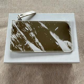 マルタンマルジェラ(Maison Martin Margiela)の新品 メゾン マルジェラ メタリック ペイント カードケース 小銭入れ  財布(折り財布)