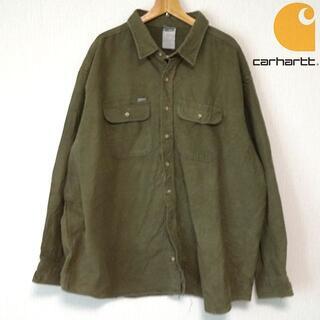カーハート(carhartt)のカーハート メンズ 長袖シャツ 大きいサイズ オリーブ(シャツ)