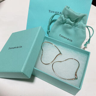 Tiffany & Co. - TIFFANY&Co. ティファニー オープンハート ピアス ミディアム