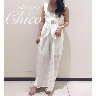 フーズフーチコ(who's who Chico)の僅か⚠️¥7452【Chico】2way ベアパンツ サロペットオールインワン(カジュアルパンツ)