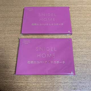 SNIDEL HOME 花柄エコバッグ&ネコポーチ