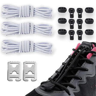 結ばない靴紐 3足セット アンカー付き シューレース ゴム紐 スニーカー(その他)