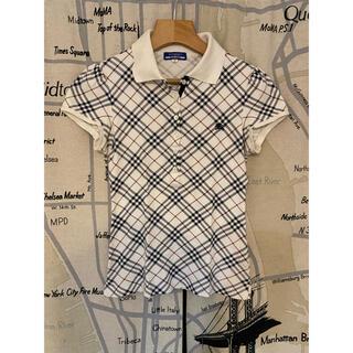 BURBERRY - バーバリー チェック ポロシャツ ブラウス 半袖 38号