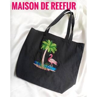 Maison de Reefur - メゾンドリーファー 【新品未使用】刺繍 フラミンゴ トートバッグ