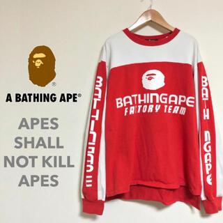 A BATHING APE - アベイシングエイプ APE ビンテージ BMXモトクロスチームTEE