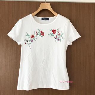 ジャスグリッティー(JUSGLITTY)のジャスグリッティー♡ 刺繍Tシャツ 花柄(シャツ/ブラウス(半袖/袖なし))