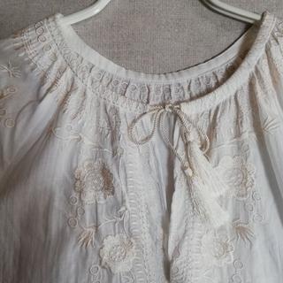 IENA - IENA イエナ エンブロイダリー刺繍ブラウス 七分袖