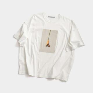 アドーア(ADORE)の6/19まで L/museum アートフラワープリントTシャツ 38 タグ付き(Tシャツ(半袖/袖なし))
