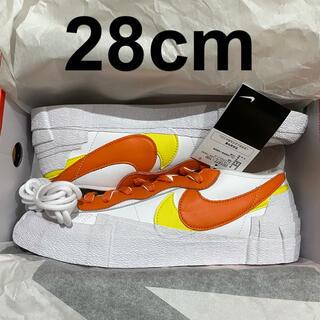 NIKE - 28cm Sacai Nike Blazer Low Orange White