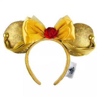 Disney - 上海ディズニー❣️新品美女と野獣ベルイエローローズリボンカチューシャ 薔薇黄色