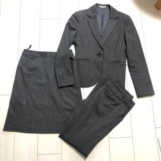アオキ(AOKI)のアオキ aokiパンツスカートジャケット上下スーツ3点セット(スーツ)