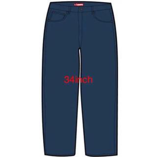 シュプリーム(Supreme)のsupreme regular jean rinsed blue 34インチ(デニム/ジーンズ)