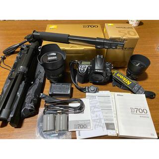 Nikon - 3000ショット以下 NIKON D700 小三元・単焦点レンズ・三脚・一脚付き