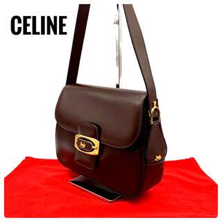 celine - ★美品★ セリーヌ ヴィンテージ【馬車金具】ショルダーバッグ レザー ブラウン