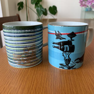フランフラン(Francfranc)の&MO'design Tea Time マグカップ 2個セット(グラス/カップ)