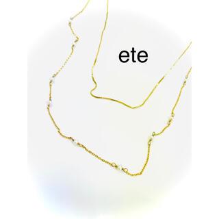 ete - ete エテ ゴールドカラー ネックレス