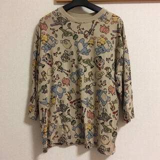 ディズニー(Disney)のトイストーリー 総柄Tシャツ 7分袖(Tシャツ(長袖/七分))