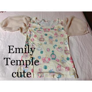 エミリーテンプルキュート(Emily Temple cute)のEmily Temple cute パフスリーブシャツ(カットソー(半袖/袖なし))