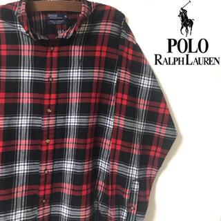 POLO RALPH LAUREN - 【美品】ポロラルフローレン シャツ チェックシャツ ネルシャツ 長袖 XL