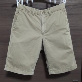 ユニクロ(UNIQLO)のUNIQLO チノハーフパンツ XS ベージュ半ズボン 短パン ショートパンツ(ショートパンツ)