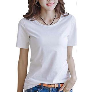 白 無地 半袖 Tシャツ (Tシャツ(半袖/袖なし))